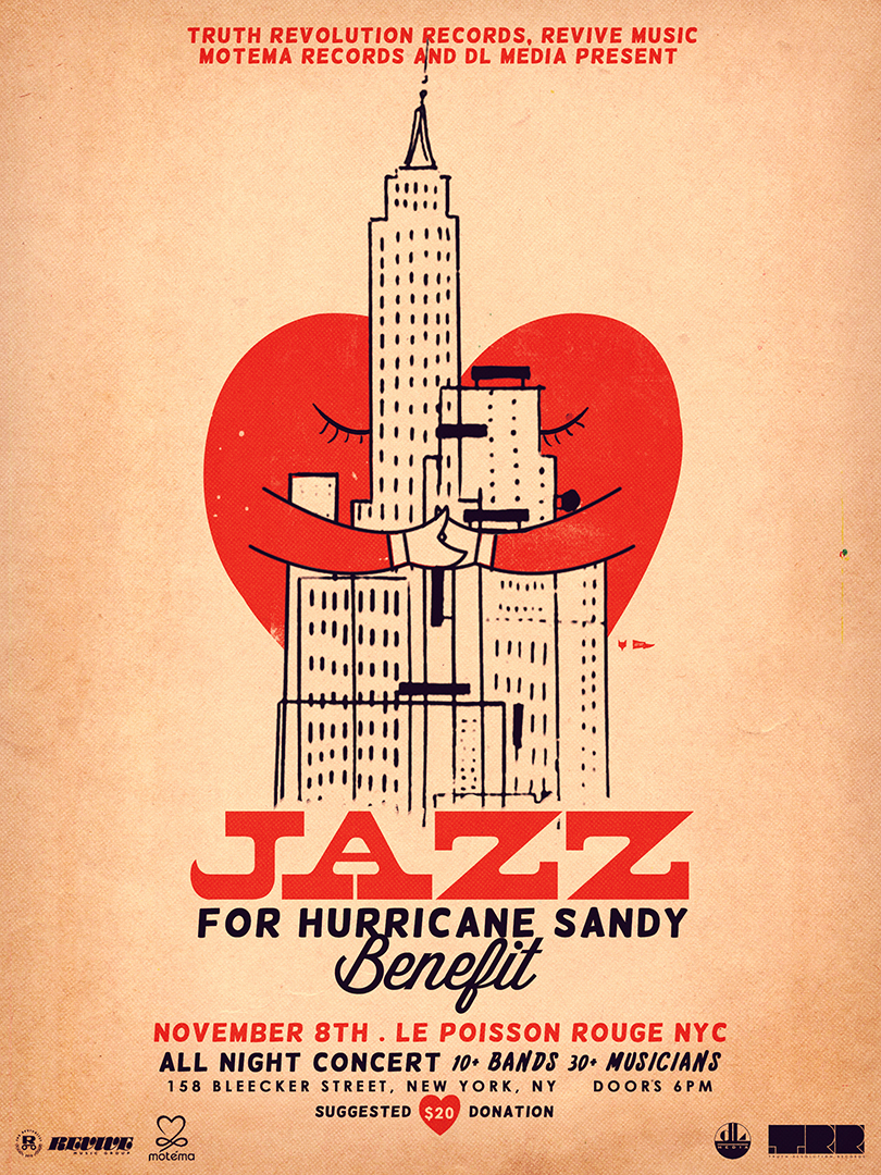jazz for hurricane sandy, revive music, motema, truth revolution records, dj media