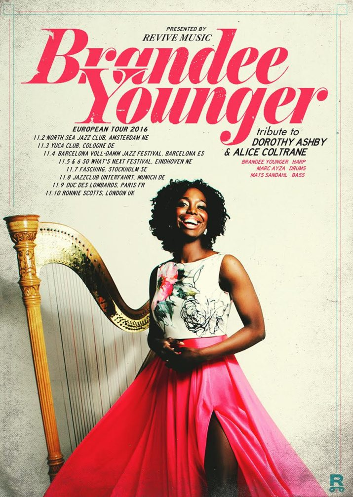Brandee Younger - Tribute to Dorothy Ashby & Alice Coltrane European Tour Dates