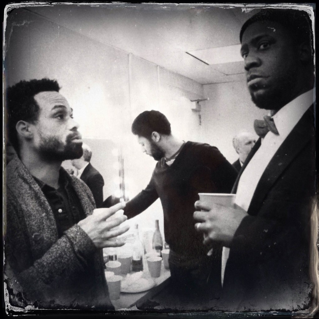 Bilal & Glasper before the show...