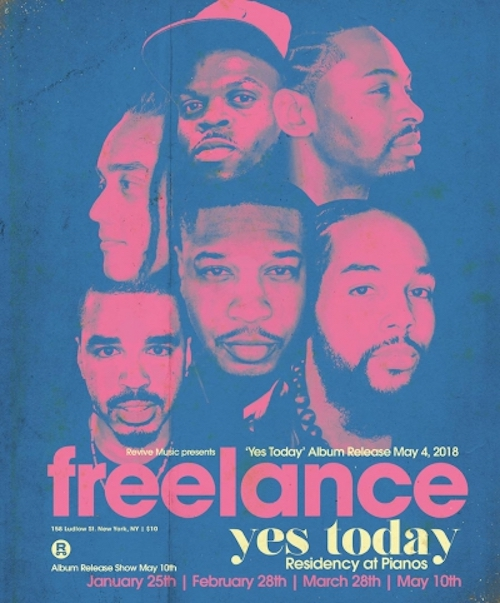 Uptown Band Freelance Kicks Off Three-Month NYC Residency, 01/25 @ Pianos!